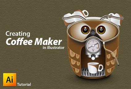 Illustrator Tutorial: How to Create a Cute Coffee Maker | Digital-News on Scoop.it today | Scoop.it