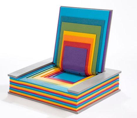 Rainbow Book Chair by Chen Liu | Sarara Construction | Scoop.it