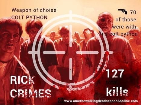 The Walking Dead Infographic : The Walkers killed by Rick   The Walking Dead Season 6   Scoop.it