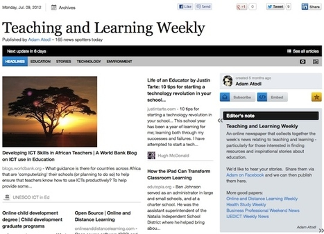 "June 9 - ""Teaching and Learning Weekly"" is out 