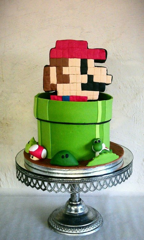 I Wish I Could Have Ate a Bit of This 8-Bit Mario Cake | All Geeks | Scoop.it