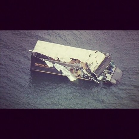 UPS Truck Crashes Into Biscayne Bay - Miami News - Riptide 2.0 | READ WHAT I READ | Scoop.it