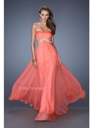 Sweetheart Ruffled Bodice Open Back Chiffon Sequin Prom Dresses - by OKDress UK | Fashion & Beautiful Dresses | Scoop.it