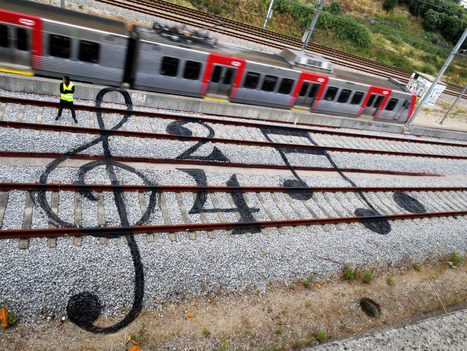 Colorful Street Art on the Train Tracks of Portugal by Artur Bordalo   Inspired By Design   Scoop.it