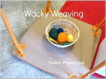 Upside down, wacky weaving | Teach Preschool | Scoop.it
