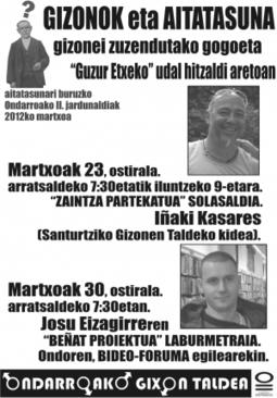 Segundas Jornadas sobre Paternidad en Ondarroa: 23.03.2012 y 30.03.2012   Pedalogica: educación y TIC   Scoop.it