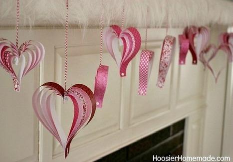 Valentine's Day Mantel - Hoosier Homemade   Valentines Day   Scoop.it