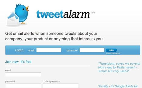 Tweet Alarm | Social media kitbag | Scoop.it