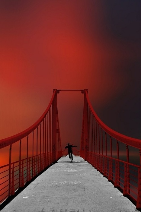 Bridge in red.... | Reflejos | Scoop.it