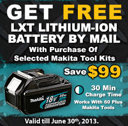 FREE Makita 18V LXT Lithium-ion Battery (BL1830) | Online Power Tools Shopping | Scoop.it