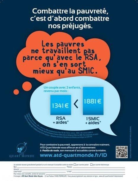 Campagne contre les idées reçues sur la pauvreté - Mouvement ATD (Agir Tous pour la Dignité) Quart Monde France | Greg mk Actu | Scoop.it