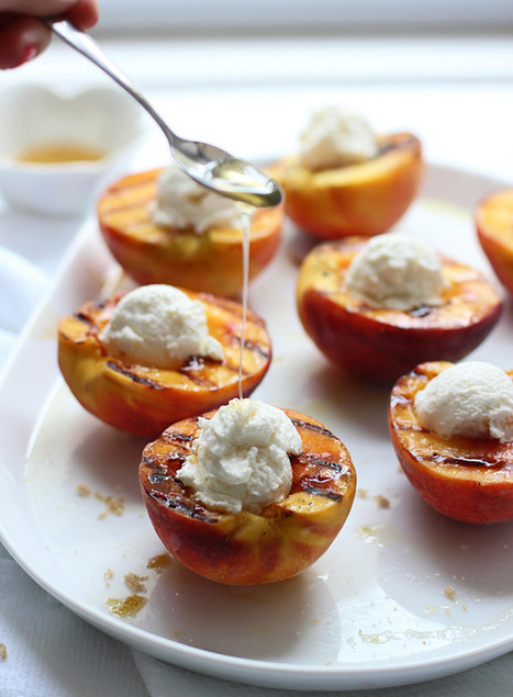Brown Sugar Grilled Peaches with Ricotta, Honey and Crispy Prosciutto | The Man With The Golden Tongs Hands Are In The Oven | Scoop.it
