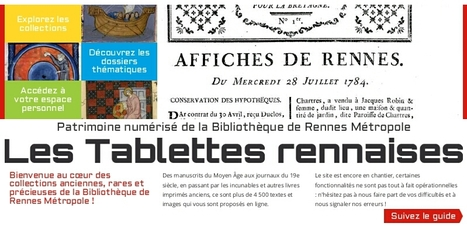 Les Tablettes rennaises -Bibliothèque de Rennes-Métropole. | Nos Racines | Scoop.it