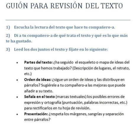 Estrategias para la revisión y corrección de los textos escritos. | PaLaBraS AzuLeS | Entorns Virtuals d'Aprenentatge i Recursos Educatius WEB 2.0 | Scoop.it