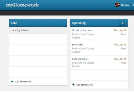 MyHomework, aplicación de productividad para estudiantes | Tecnologia para la ESO | Scoop.it