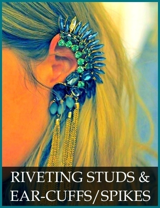 Riveting Studs and Ear Cuffs / Spikes: Sadee Says: Shop online for trendy designer costume jewelry, necklaces, earrings, bracelets, rings & women's accessories. | 2013 Fashion Trends in Jewelry | Scoop.it
