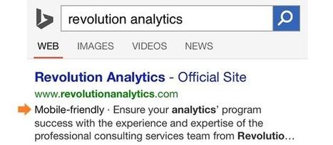 Bing passe lui aussi au mobile-friendly dans ses pages de résultats | WebZeen | L'actu Web | WebZeen | Scoop.it