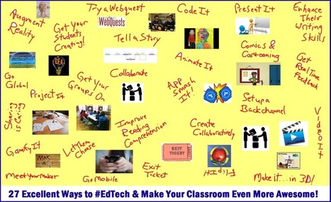 27 Meaningful Ways to Use EdTech & Make Your Classes Extra Awesome This Year! — Emerging Education Technologies | Keeping up with Ed Tech | Scoop.it