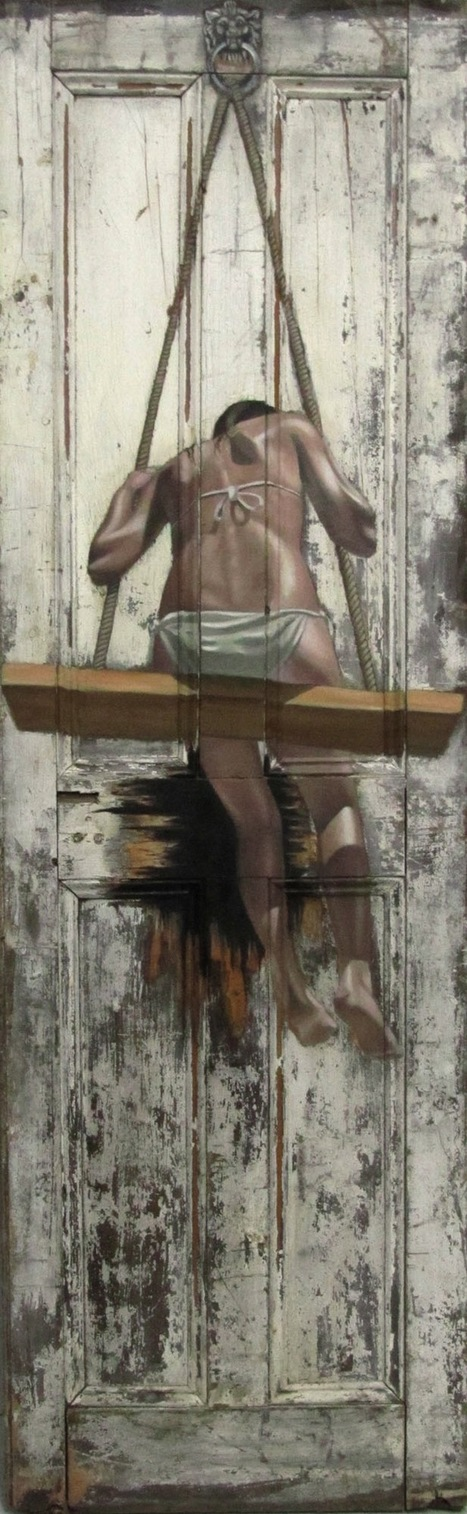 Intriguing Old Paintings on Worn Doors - My Modern Metropolis | Le It e Amo ✪ | Scoop.it