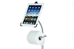 """Where to put your tablet when you're on the toilet..."" IN THE LIVING ROOM!! 