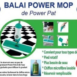 Balai Power Mop et recharges chiffon microfibre bambou - Powerdem | Powerpat - Détergents biodégradables écologiques | Scoop.it
