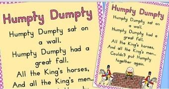 Humpty Dumpty Nursery Rhyme to Enhance Auditory Skills in Young Children | Motherhood | Scoop.it