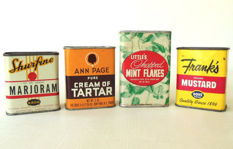 Vintage Spice Tins | Antiques & Vintage Collectibles | Scoop.it