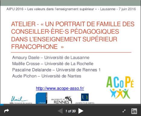 Qui sont les conseiller/ère·s de l'enseignement supérieur francophone ? Quelques résultats… | Usage Numérique Université | Scoop.it