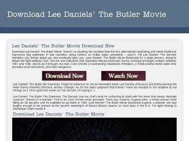 Download Lee Daniels The Butler Movie | Download Lee Daniels' The Butler Movie | Scoop.it