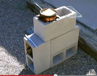 "The ""4 Block"" Rocket Stove! - DIY Rocket Stove  