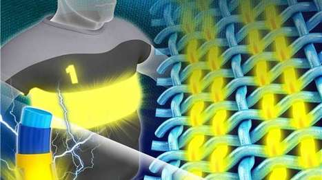 Researchers create soft, weavable LED fibers for truly flexible wearable displays   qrcodes et R.A.   Scoop.it