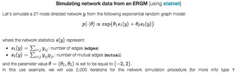 BayeSNA: - Bayesian parameter inference for exponential random graph models | #SNA #complexity | e-Xploration | Scoop.it