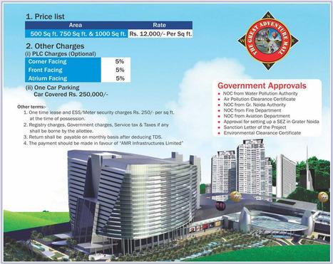 AMR Noida - Residential Properties in Noida - Price List | AMR Noida - AMR Group Noida - The Great Adventure Mall in Noida | Scoop.it