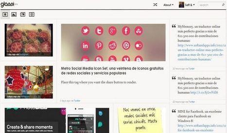 Glossi: una elegante forma de agrupar, leer y compartir tus publicaciones sociales│@softapps | Educación Y TIC | Scoop.it