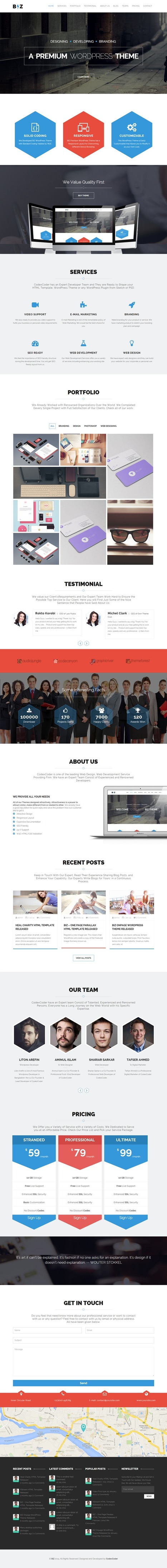 Biz Multipurpose Business and Corporate Theme - Download New Themes | To be a good Man | Scoop.it