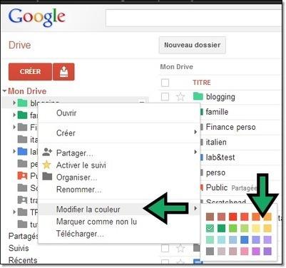 Modifier la couleur des dossiers dans googledrive | #ITyPA Bruno Tison | Scoop.it