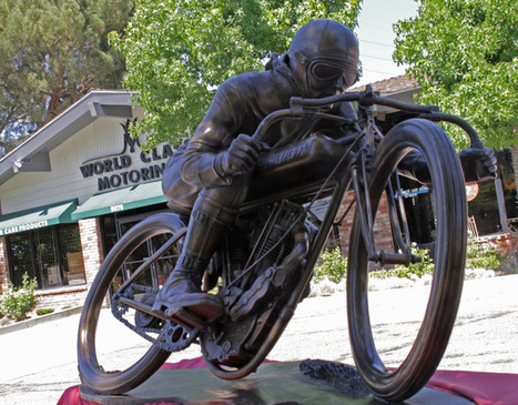 Six-Foot Bronze Motorcycle Sculpture Unveiled by Artist Steve ... | Vintage Antique Motorcycles | Scoop.it