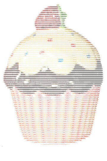 birthday cake ascii