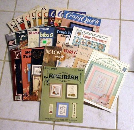 LOT OF 23 VINTAGE CROSS STITCH PATTERN BOOKS LEAFLETS MAGAZINES MANY RARE | Daily Paper | Scoop.it
