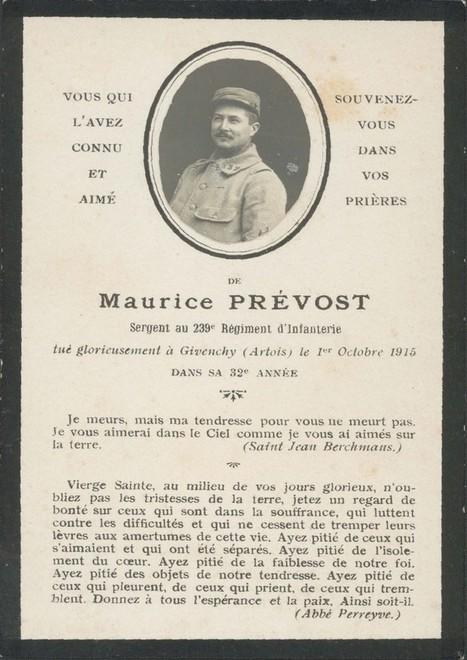 La lettre testament du sergent Marcel Prévost | Auprès de nos Racines - Généalogie | Scoop.it