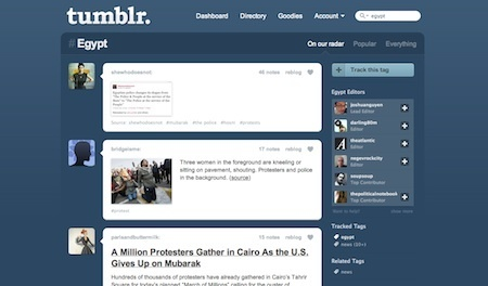 Tumbling into journalism: Tumblr's newsy tag pages » Nieman Journalism Lab » Pushing to the Future of Journalism | Brand & Content Curation | Scoop.it