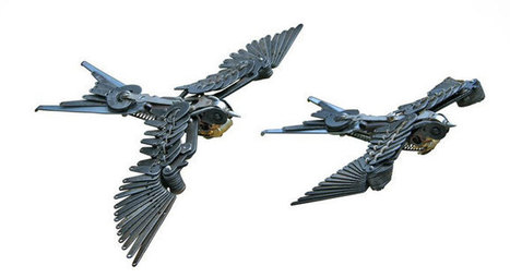 Typewriter parts turned into swallows | videotechnik | Scoop.it