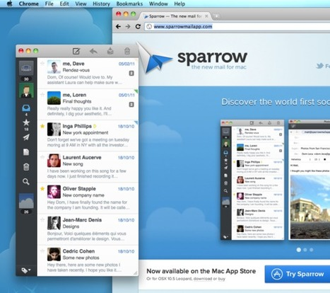 Avec Sparrow, l'email rejoint la mode du Cloud | Actualité | Locita | SocialWebBusiness | Scoop.it