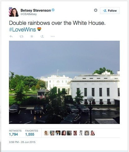 Double rainbow appears over the White House after SCOTUS ruling | Gay News | Scoop.it