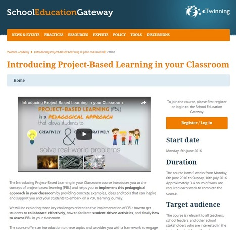 #eTwinning #Europe | Project-Based Learning in your Classroom | #EU #LEARNing2LEARN | PBL | Scoop.it