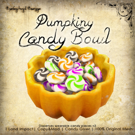 Free Pumpkin Candy Bowl | Finding SL Freebies | Scoop.it