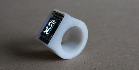 An OLED Ring for Bluetooth Notifications | FabLab - DIY - 3D printing- Maker | Scoop.it