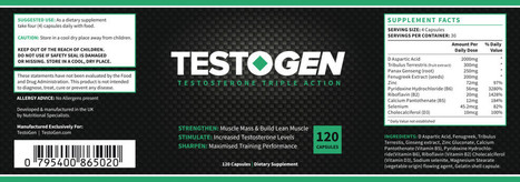 Testogen an All Natural Testosterone Boster | Herbal Health Supplements | Scoop.it