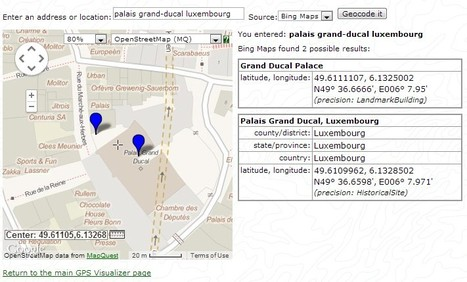 GPS Visualizer: Quick Geocoder | Lakeoftheheart Survival | Scoop.it