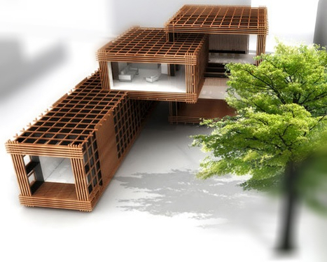 "UP' Magazine : ""Blockwood, un concept architectural innovant de maisons modulaires en bois 